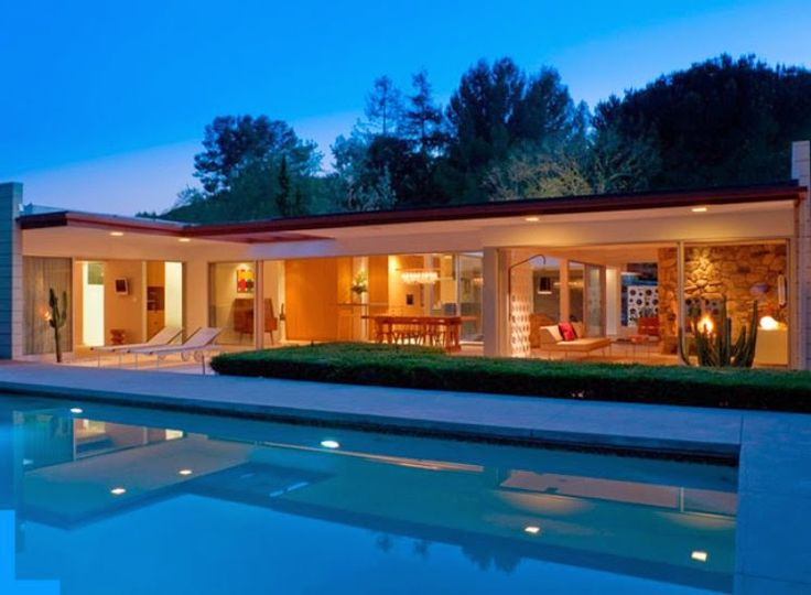 Pool modern-outdoor-pool-house-designs-in-warm-shades-and-lighting-pool-ideas 27 Aweome Picture of Pool House Designs