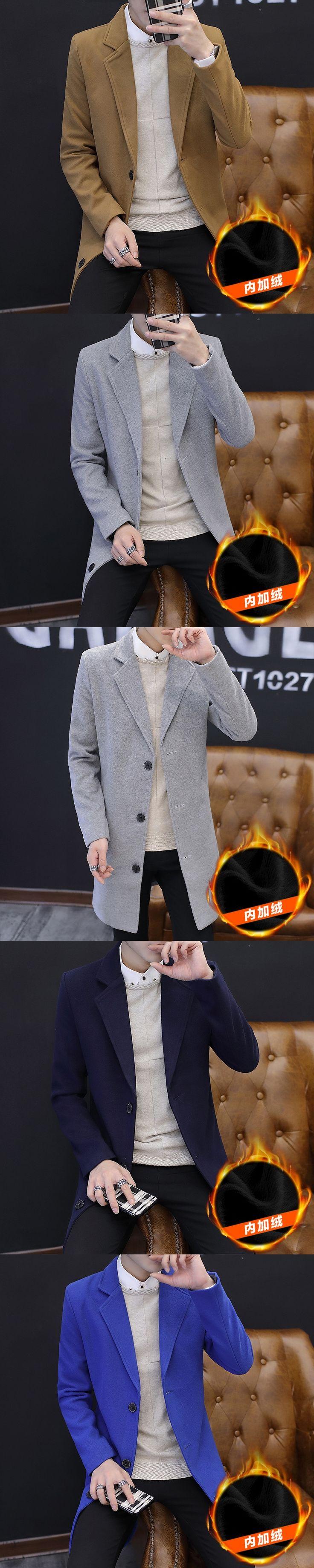 Man Long Black Coat Gentlemen Men Winter Coats Male Cardigan Elongated For European Jackets Raincoat Nylon Mens Trench Knit f20+