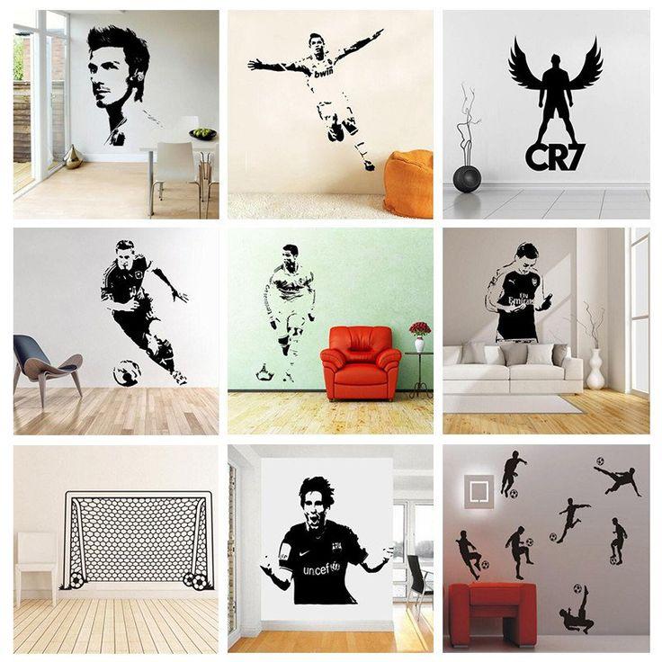 Soccer Star Players Wall Stickers  #soccer #football #futebol #wall #stickers #home #decor #ideas #decoration #christmas