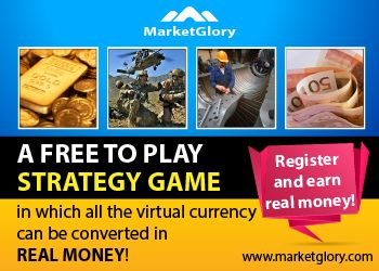 MaketGlory - Online Strategy Game http://www.marketglory.com/strategygame/onimushacs * MarketGlory is an economic, political, social and military simulator where you can use your local currency into your benefit. * Each player from the MarketGlory community has the opportunity to: work, set up companies, run for the government, recommend referrals, gain military ranks and build their own organization. * The road to success in MarketGlory is achieved through a personal strategy by each player…