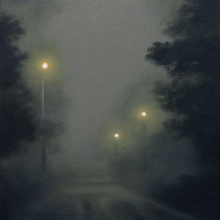 "thunderstruck9: "" Gill Rocca (British, b. 1971), Anywhere III, 2012. Oil on wood, 15 x 15 cm. """