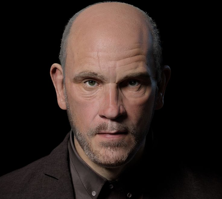 John Malkovich 3D portrait #sculpture #johnmalkovich #digitalart #cgart #zbrush #portrait #actor #hollywood