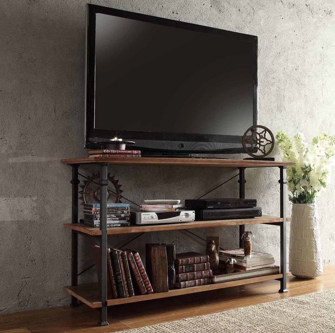 best 20 industrial tv stand ideas on pinterest industrial media storage metal tv stand and. Black Bedroom Furniture Sets. Home Design Ideas