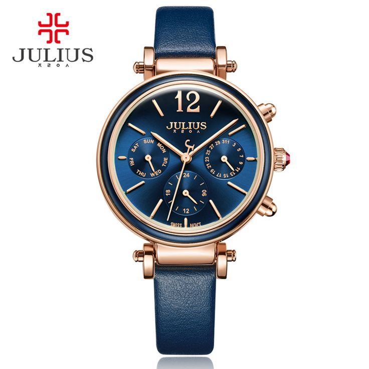 Julius Brand Creative Watches Women Fashion Chronos Quartz Watch Retro Vintage Montre Femme Auto Day Date Female Clock JA-958 | Dream Jewelry Place. Find Earring, Necklace, Rings and More.