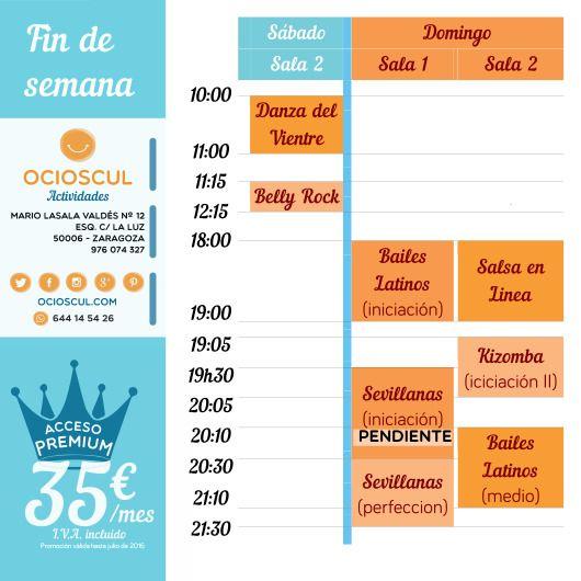 Actividades Finde Sábado #DanzaDelVientre #BellyRock Domingo #SalsaEnLinea #Kizomba #BailesLatinos iniciación y medio #Sevillanas perfeccion