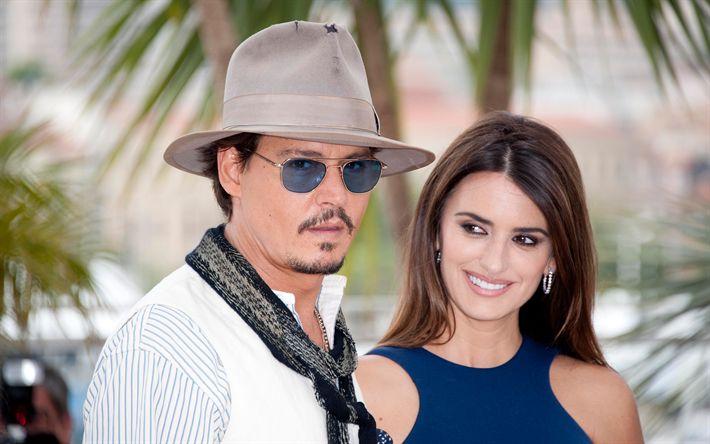 Descargar fondos de pantalla Johnny Depp, Penélope Cruz, American actores, celebridades