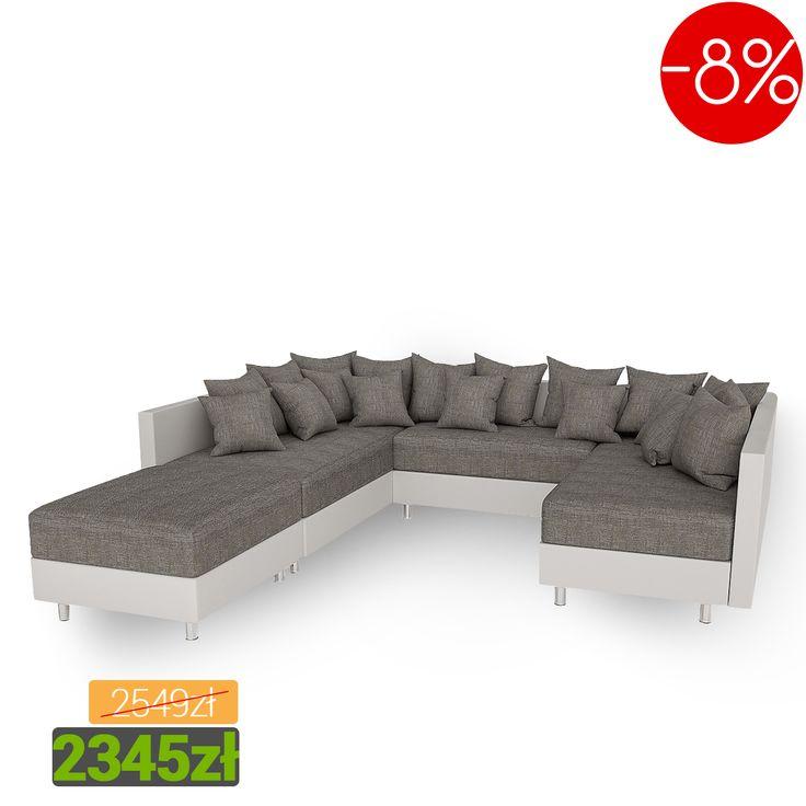 Modern corner sofa into the living room in super price! Catch the chance! Nowoczesny narożnik do salonu w promocyjnej cenie! Łap okazję! #corner #sofa #narożnik #living #room #salon #mirjan24 #home #dom