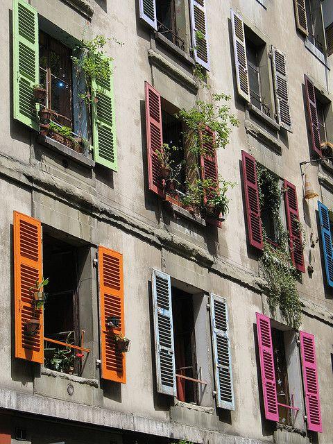 I remember my friend accidentally dropping a flower pot from a window like these. tsk! tsk! Jeff (-: [Geneva, Switzerland]