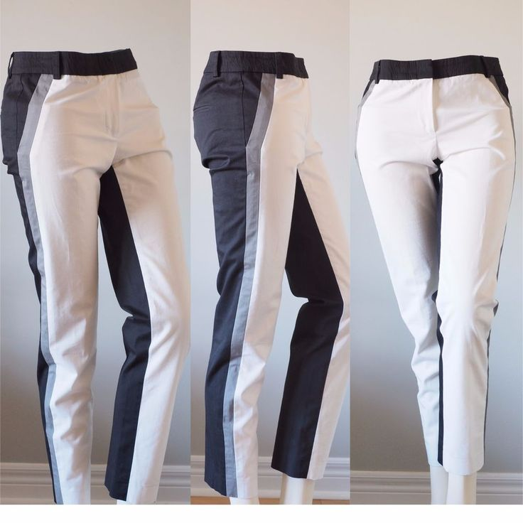 Judith & Charles Women Colorblock Stripe Ankle Cropped Pants Career Size 0 $350 | Clothing, Shoes & Accessories, Women's Clothing, Pants | eBay!