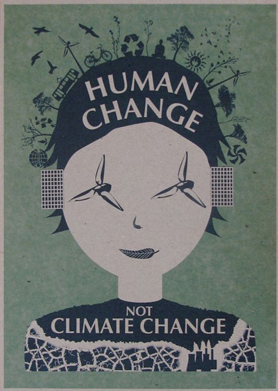 Human change, not climate change