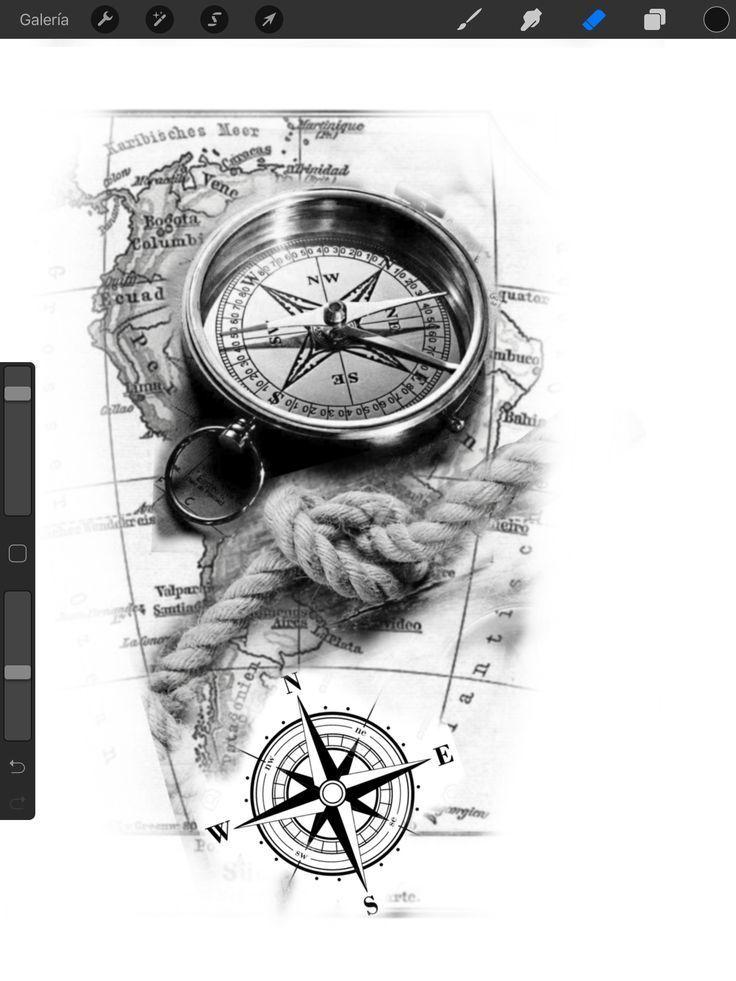 главное картинки тату компаса стратегия была