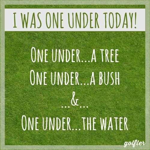 #Golf #Jokes: I was one under today!!! #Golfer #Humor