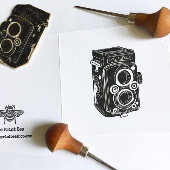 Vintage camera greetings card Rolleiflex Retro Birthday