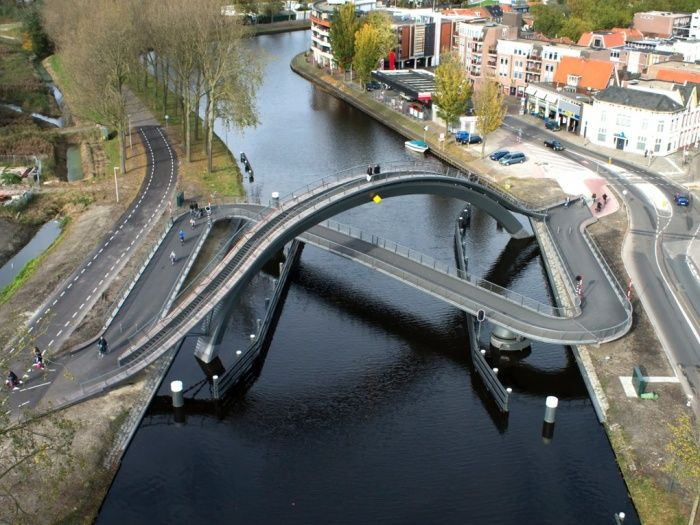 Architecture for bikes – in pictures. Melkwegbridge, Purmerend, The Netherlands 2012