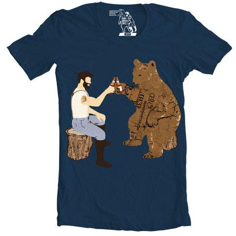 Having A Bear T-shirt - Man Cave Ideas  - 1