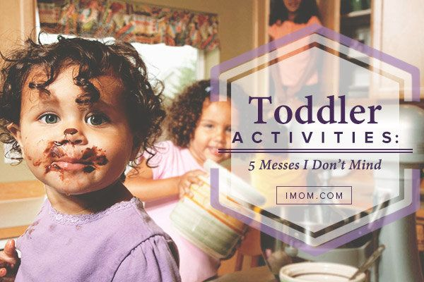 Sometimes toddler activities lead to messes, both big and small. But here are 5 messes I don't mind my toddler to make.