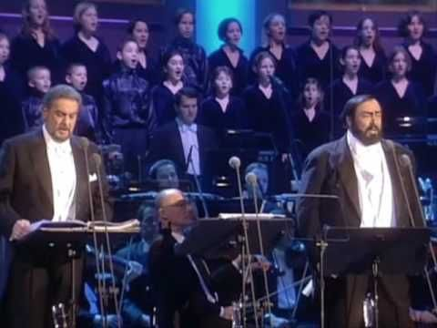 ▶ Luciano Pavarotti and Placido Domingo - O Holy Night / Cantique De Noel (Christmas-Vienna 1999)