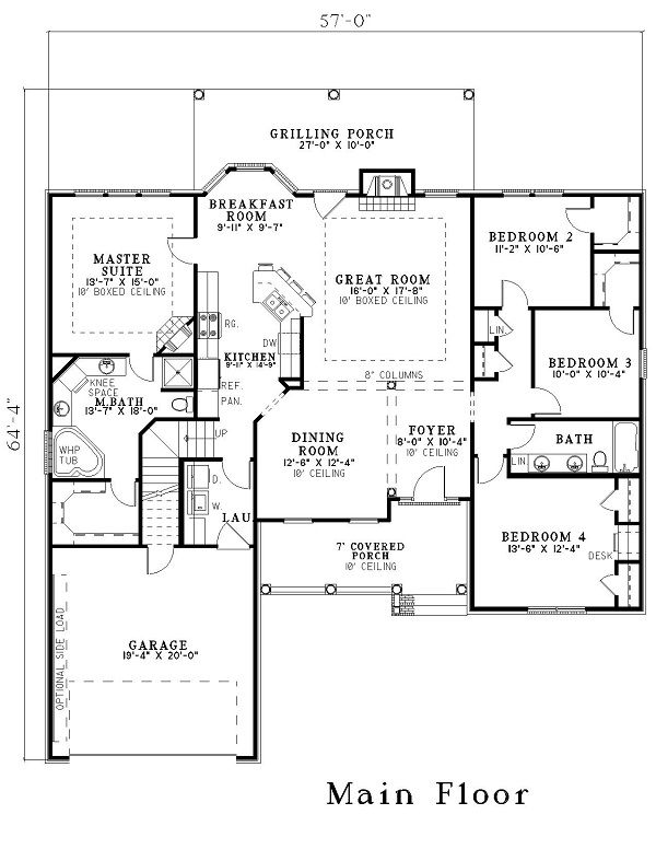Floor Plan Of A House With Dimensions
