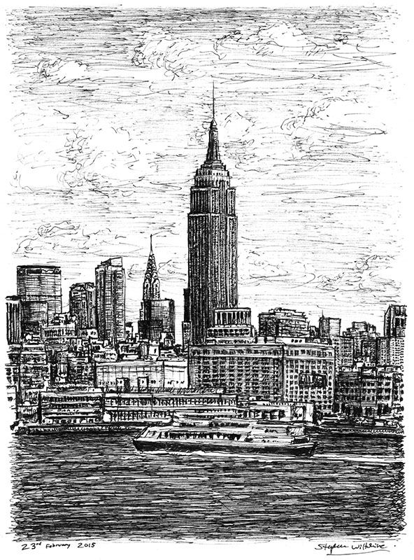 Empire State Building NYC - drawings and paintings by Stephen Wiltshire MBE