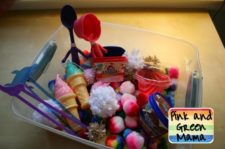 Ice Cream Theme Sensory Box