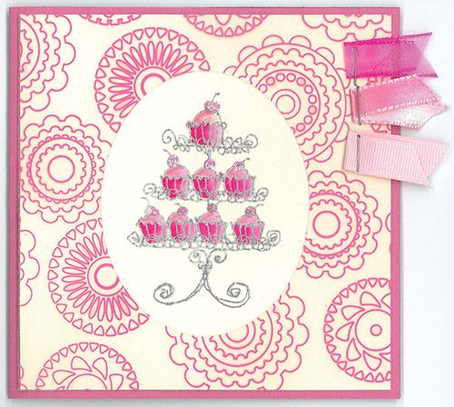 Stamp-it Australia: 4026E Cake Stand - Card by Susan