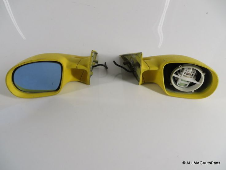 1995-1999 BMW M3 OEM Side View Mirrors Pair Yellow 51162253827 51162253828 E36