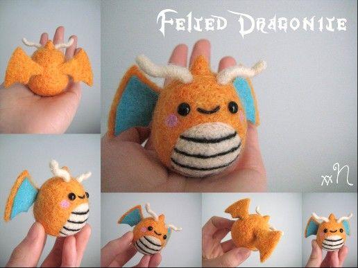Needle Felted Dragonite