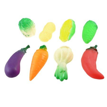 8 in 1 Emulational Colorful Squeaky Peanut Vegetable Toy for Children
