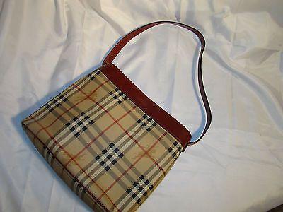 Pre Owned Authentic Burberry Classic Nova Check Haymarket Bucket Bag Purse   eBay