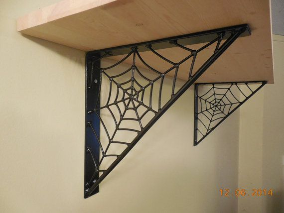 Steel Spiderweb Shelf Brackets by MJMetalAlmonte on Etsy, $175.00