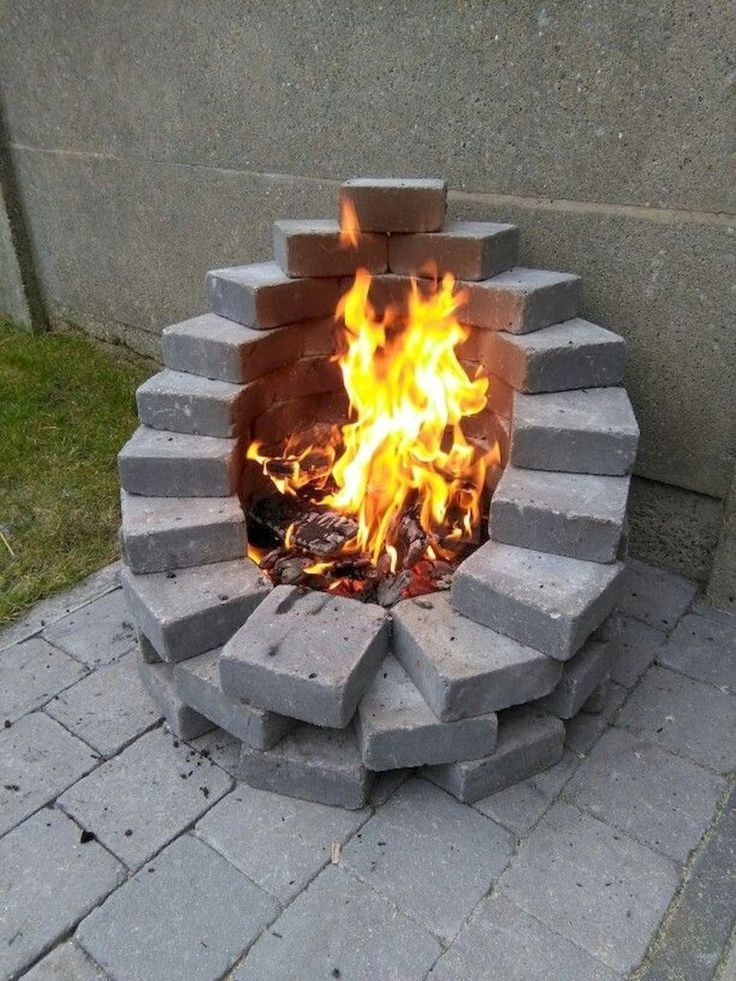 01 Simple and inexpensive ideas for designing fire pits and backyards