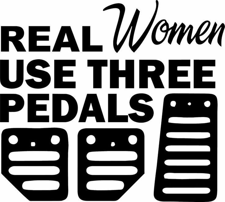 Real Women Use Pedals Sticker Funny JDM Honda Girl Race Car - Custom race car window decalsreal women usepedals sticker funny jdm honda girl race car