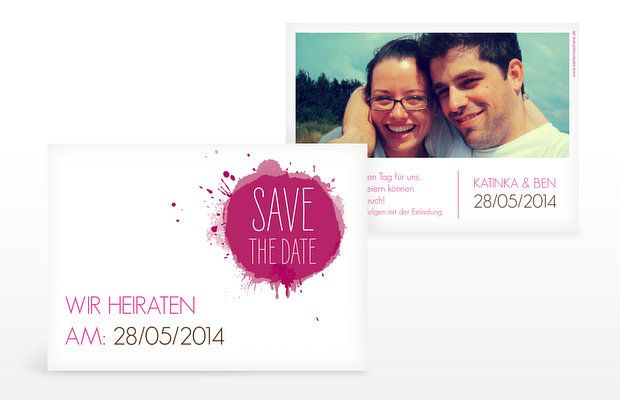 "Save-the-Date Karte ""Aquarell"""
