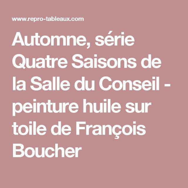 Automne, série Quatre Saisons de la Salle du Conseil - peinture huile sur toile de François Boucher