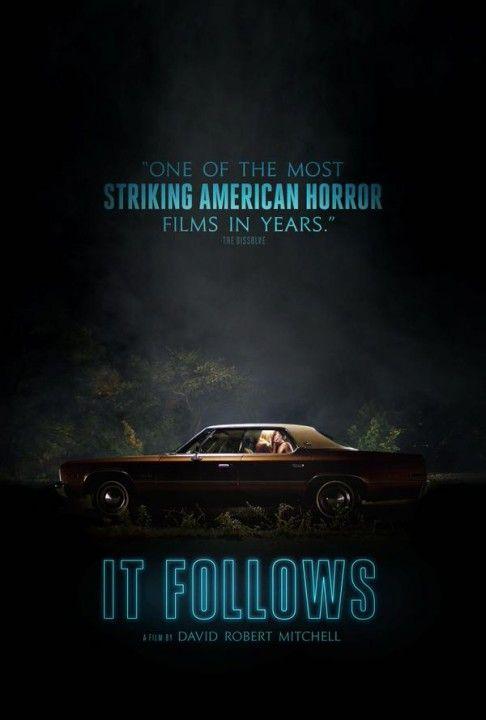 IT FOLLOWS: une belle affiche américaine pour le film d'horreur It Follows - le 04/02/2015 à #Kinepolis >> http://kinepolis.fr/films/it-follows?date=2015-02-04?utm_source=pinterest&utm_medium=social&utm_campaign=itfollows#showtimes