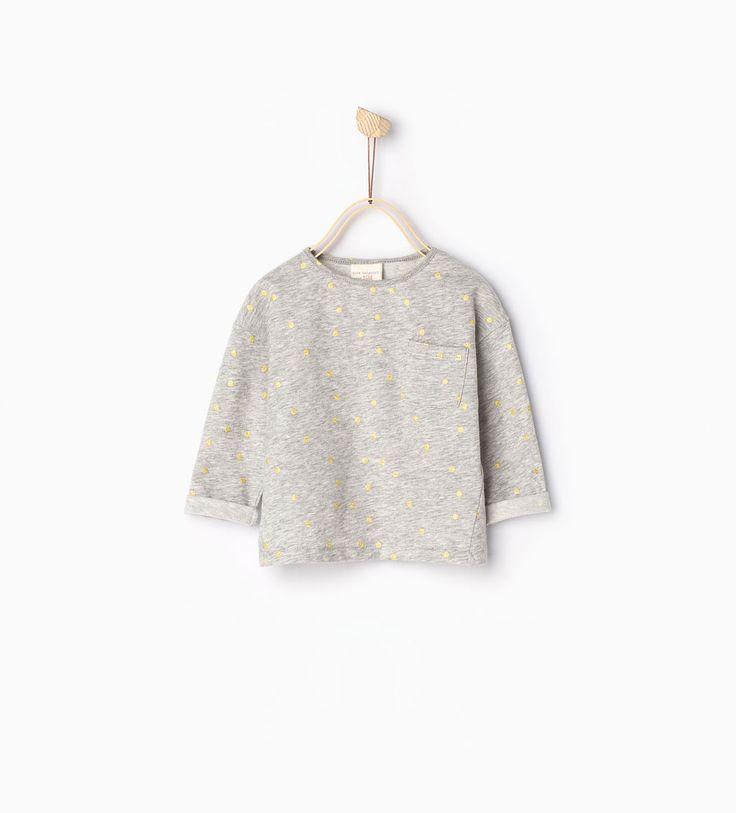 T-shirt met glanzende stippen-TOPJES-Baby meisje | 3 maanden - 3 jaar-KINDEREN | ZARA Nederland
