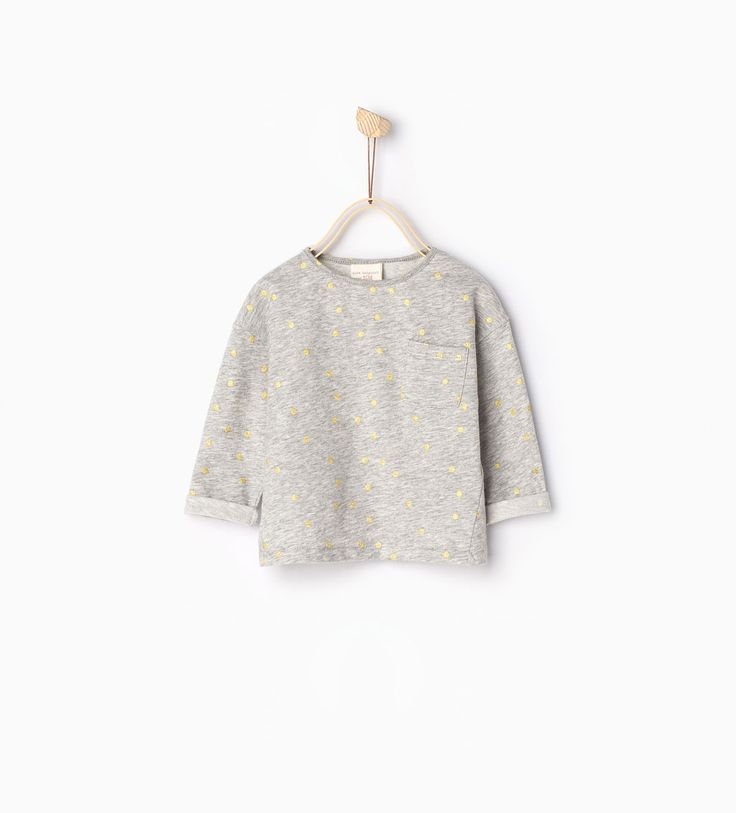 Shiny polka dot top-T-SHIRTS-BABY GIRL | 3 months-3 years-KIDS | ZARA United States