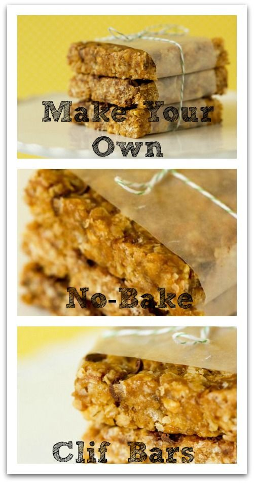 No-Bake Clif Bars!! Easy, Yummy & Healthy! These make an awesome snack, and are a perfect substitution for breakfast or lunch if you're running late or on the go.