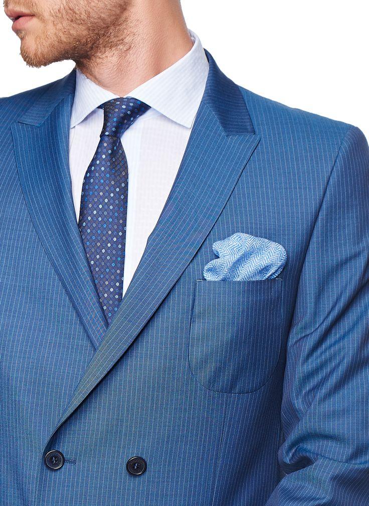 Slim Fit Kruvaze Takım Elbise - Altınyıldız Classics
