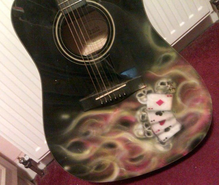 Artwork on a Fender semi-acoustic Guitar.