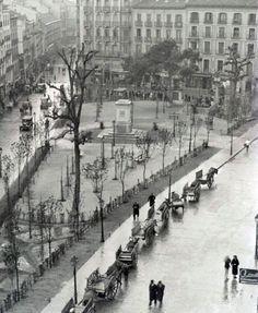 Plaza de Tirso de Molina en los años 30, Madrid