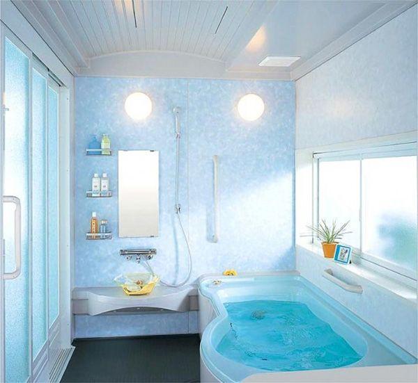 decoração Projetos para banheiros pequenos, decorar Projetos para banheiros pequenos: Small Bathroom Design, Modern Bathroom Design, Decor Bathroom, Dreams Bathroom, Bathroom Ideas, Bathroom Interiors Design, Bathroom Decor, Houses Interiors Design, Blue Bathroom