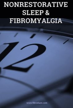 Non-Restorative Sleep In Fibromyalgia