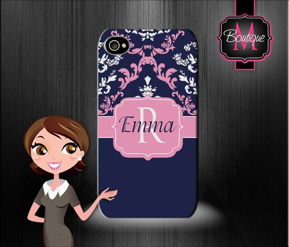 Iphone 6/6+, Iphone 5/5s, Iphone 4/4s, HIGH QUALITY Custom Monogrammed and Personalized Cell Phone Case