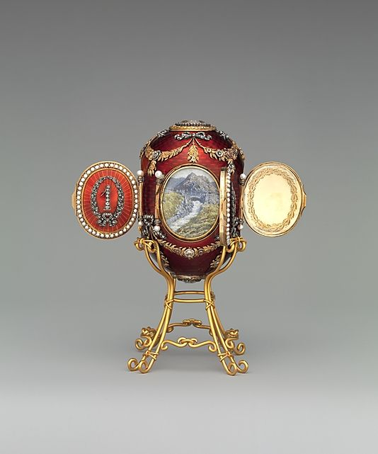 RUSSIA | House of Carl Fabergé. Imperial Caucasus Egg, 1893. Russian. The Metropolitan Museum of Art, New York. (L.2011.66.51a, b) #WorldCup