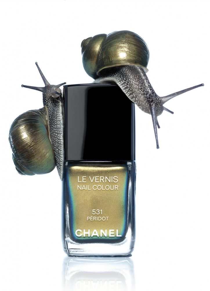 David Newton, Nails and Snails, Chanel/ beautiful but they could have left out the snails