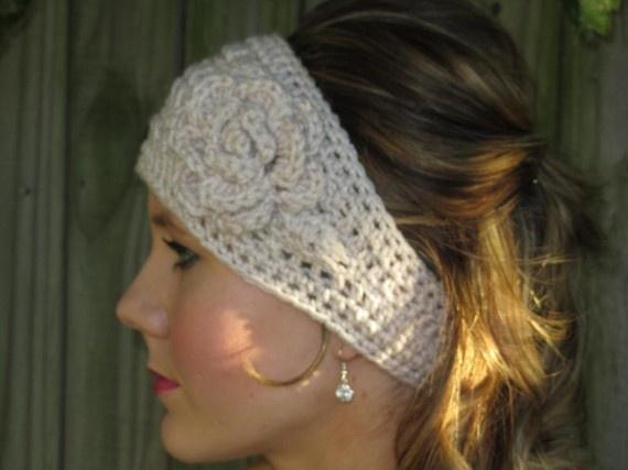 28 best crochet earwarmersheadbands images on pinterest crochet crochet flower headband cute mightylinksfo Choice Image