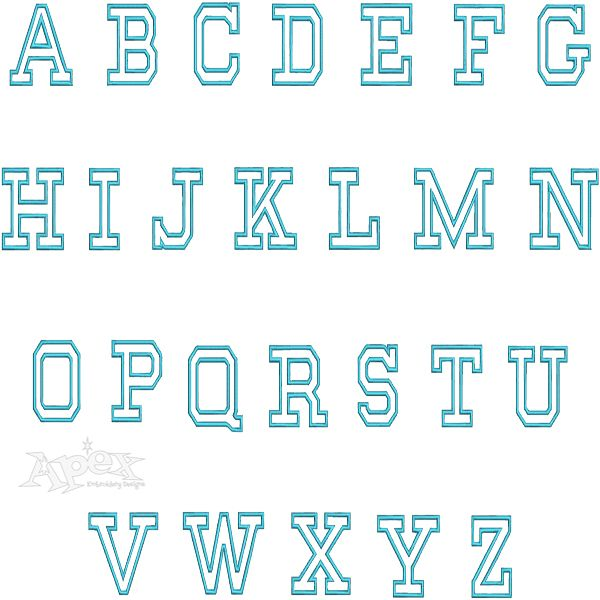Best images about block embroidery fonts on pinterest