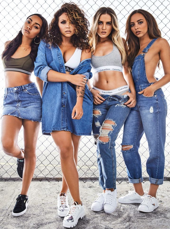 These costumes are great for the pop genre, and eventhough this is a band and i am just doing one artist, the matching costume works really well and denim is fashionable and in trend. they are not showing too much body but do not fully cover up, i would like to use clothing similar to this as it is funky and links to my pop genre.