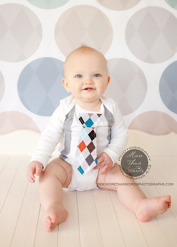 Baby Boy Tie Bodysuit and Suspenders. Any Tie. Spring, Summer, Childrens Fashion. Carters Brand Bodysuit - (Size Chart) Bodysuit is available in